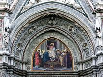 1大教堂详细资料佛罗伦萨 库存照片