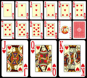 1大酒杯纸牌游戏 库存图片
