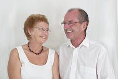 1夫妇年长愉快 免版税库存图片