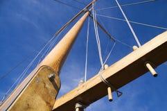 1套帆柱索具 免版税库存图片