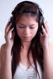 1女孩音乐 免版税图库摄影