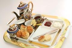1奶油色茶 免版税库存图片