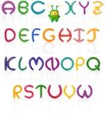 1字母表查出的彩色塑泥 免版税库存图片