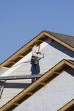 1安装房屋板壁乙烯基 库存图片