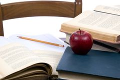 1家庭作业 免版税库存图片