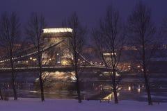 1布达佩斯chainbridge 免版税图库摄影