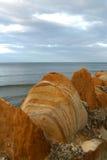 1座岩石防波堤 库存图片