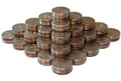 1座财务金字塔 免版税库存图片