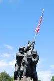 1座Iwo Jima纪念碑 库存照片