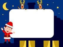 1张圣诞节框架照片 库存例证