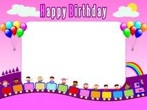1张生日框架照片 皇族释放例证