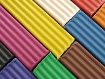 1彩色塑泥 图库摄影