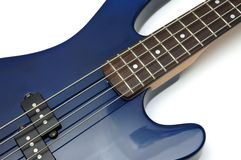 1把低音特写镜头吉他 免版税库存图片
