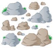 1收集向多种扔石头 免版税库存照片