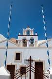 1教会海岛santorini 免版税库存照片