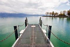 1日内瓦湖码头钢 库存照片