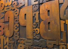 1木刻版印刷木头 库存照片