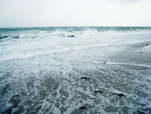 1朵风雨如磐的海浪 免版税库存照片