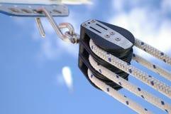 1条滑轮绳索 库存图片