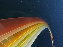 1条颜色彩虹 库存例证