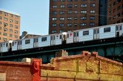 1条broadway线路nyc地铁 库存照片