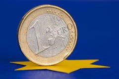 1枚欧洲硬币 图库摄影
