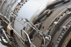 1架引擎喷气机 图库摄影