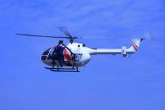 1架海岸警卫队直升机 免版税库存图片