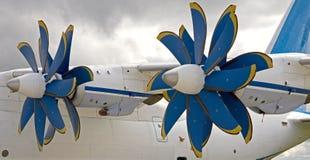 1架飞机引擎 库存照片