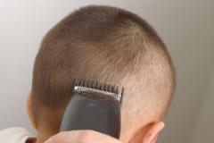 1根剪切头发 免版税库存图片