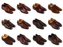 1棕色人s鞋子 免版税图库摄影