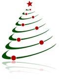 1棵抽象圣诞树 图库摄影