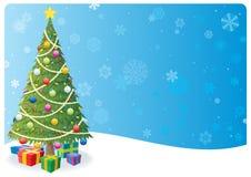 1棵背景圣诞树 向量例证
