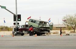 1次事故清扫 免版税图库摄影