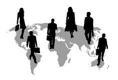1次商务旅游 向量例证