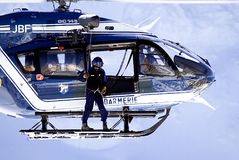 1次直升飞机营救 图库摄影
