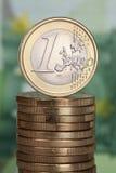 1欧元 库存图片