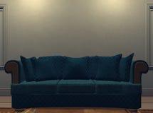 1沙发墙壁 库存例证
