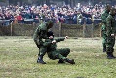 1活动武装的塞尔维亚人特殊 库存照片