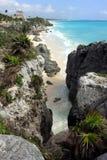 1海滩tulum 图库摄影