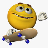 1溜冰者smilie 免版税库存图片