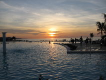 1牙买加日落 免版税图库摄影
