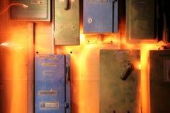 1电子熔毁 库存照片