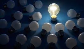 1电灯泡 免版税图库摄影