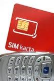1看板卡sim 免版税库存照片