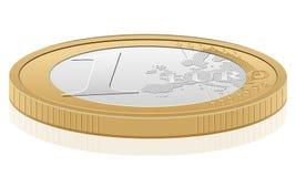 1硬币欧元 图库摄影