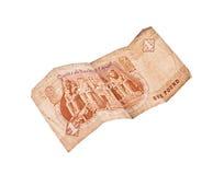1票据埃及镑 库存照片