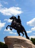 1纪念碑彼得・彼得斯堡圣徒 免版税库存照片