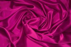 1织品桃红色缎丝绸 图库摄影