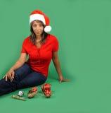 1美丽的辅助工s圣诞老人 免版税库存图片